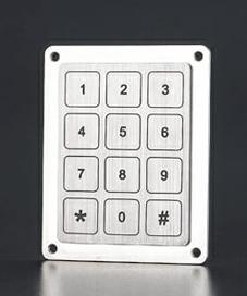 Metal touch keypad